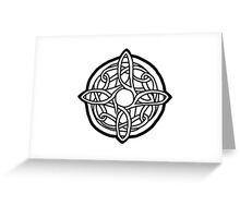 amulet of mara / black Greeting Card