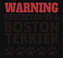 Protected By A Boston Terrier One Piece - Short Sleeve