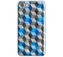 Cubes of Gray And Blue iPhone Case/Skin