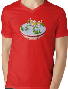 3D Kami's Lookout - Dragon Ball (No Background)  Mens V-Neck T-Shirt