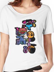 Funny cartoon characters graphic tee Women's Relaxed Fit T-Shirt