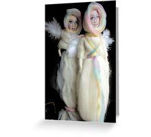 wool angel dolls Greeting Card