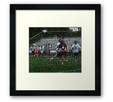 051612 044 0 pointillist boys lacrosse Framed Print