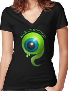 Jacksepticeye Women's Fitted V-Neck T-Shirt