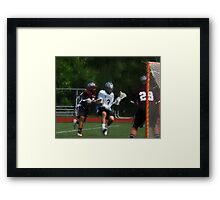 051612 076 1 oil  boys lacrosse Framed Print