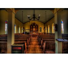 Inside the Old Norse Church (AKA St. Olaf's or The Old Rock Church) Photographic Print