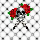 roses & skull's case by PASLIER Morgan