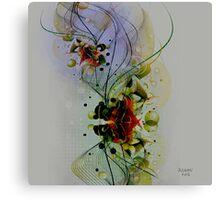 Pastel Tones Abstract Digital Art Canvas Print