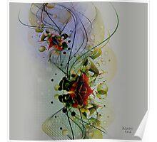 Pastel Tones Abstract Digital Art Poster