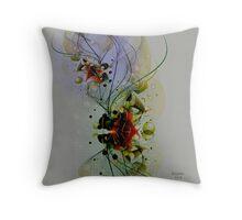 Pastel Tones Abstract Digital Art Throw Pillow