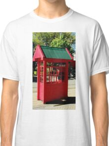 Red Telephone Box Christchurch  New Zealand Classic T-Shirt