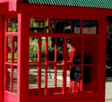 Red Telephone Box Christchurch  New Zealand Sticker