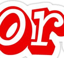 Dork (red) Sticker