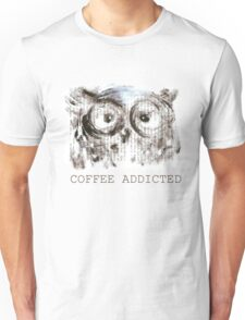 Coffee addicted owl  Unisex T-Shirt