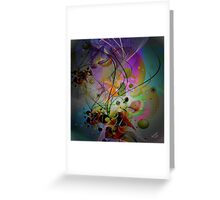 Digital Abstract Art-Dynamic Shapes And Lines Greeting Card