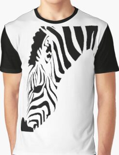 Grazing Zebra Vector Isolated On White Graphic T-Shirt
