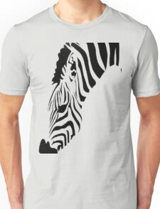 Grazing Zebra Vector Isolated On White Unisex T-Shirt