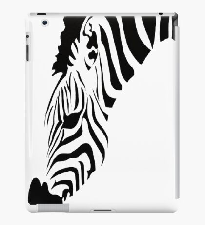 Grazing Zebra Vector Isolated On White iPad Case/Skin