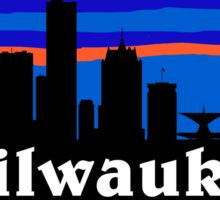 Milwaukee - Wisconsin. American city skyline silhouette collection. Sticker