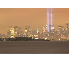 The lady And The lights 9/11/09 Photographic Print