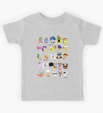 Breakfast Mascot Alphabet Kids Tee