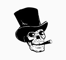 Black and white skull with tophat and cigar Unisex T-Shirt