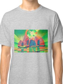 Sea of Green With Cubist Abstract Junks Classic T-Shirt