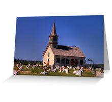 The Old Rock Church and St. Olaf's Cemetery Greeting Card