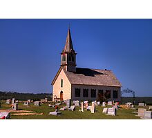 The Old Rock Church and St. Olaf's Cemetery Photographic Print