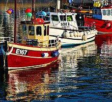 Charter Boats ~ Lyme Regis Harbour by Susie Peek