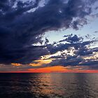 Big Water at Sundown - Lake Michigan by Kenneth Keifer