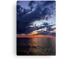 Big Water at Sundown - Lake Michigan Canvas Print