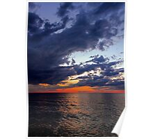 Big Water at Sundown - Lake Michigan Poster