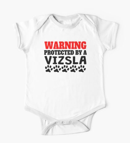 Protected By A Vizsla One Piece - Short Sleeve