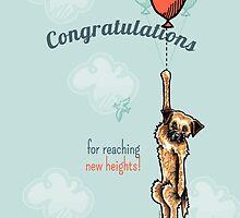 Border Terrier Congratulations Greeting Card by offleashart
