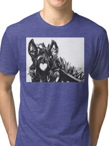 Horse Foal Bless you with love Tri-blend T-Shirt