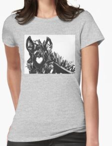 Horse Foal Bless you with love Womens Fitted T-Shirt