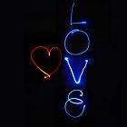 Love - Light Art by Erin O'Neill