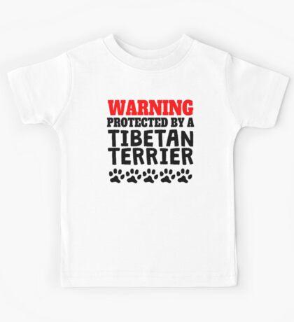 Protected By A Tibetan Terrier Kids Tee