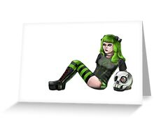Punk girl Greeting Card