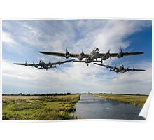Dambusters practise low flying Poster