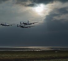 Dambusters training over The Wash by Gary Eason + Flight Artworks