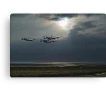 Dambusters training over The Wash Canvas Print