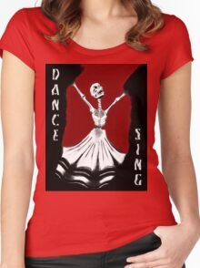 All Hallows Dance & Sing Women's Fitted Scoop T-Shirt