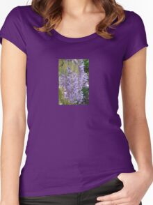 Wisteria Racemes Women's Fitted Scoop T-Shirt