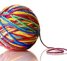ball of yarn by Jim  Hughes