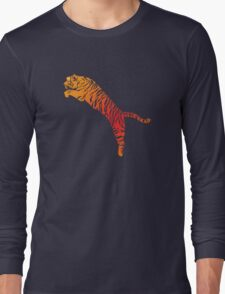 Tiger jump bright Long Sleeve T-Shirt