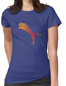 Tiger jump bright Womens Fitted T-Shirt