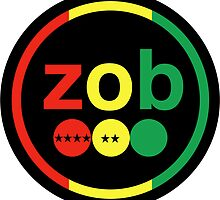 Zob Glass Sticker (Rasta) by joshtk731