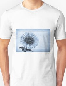 Cyanotype Aster with Textures T-Shirt